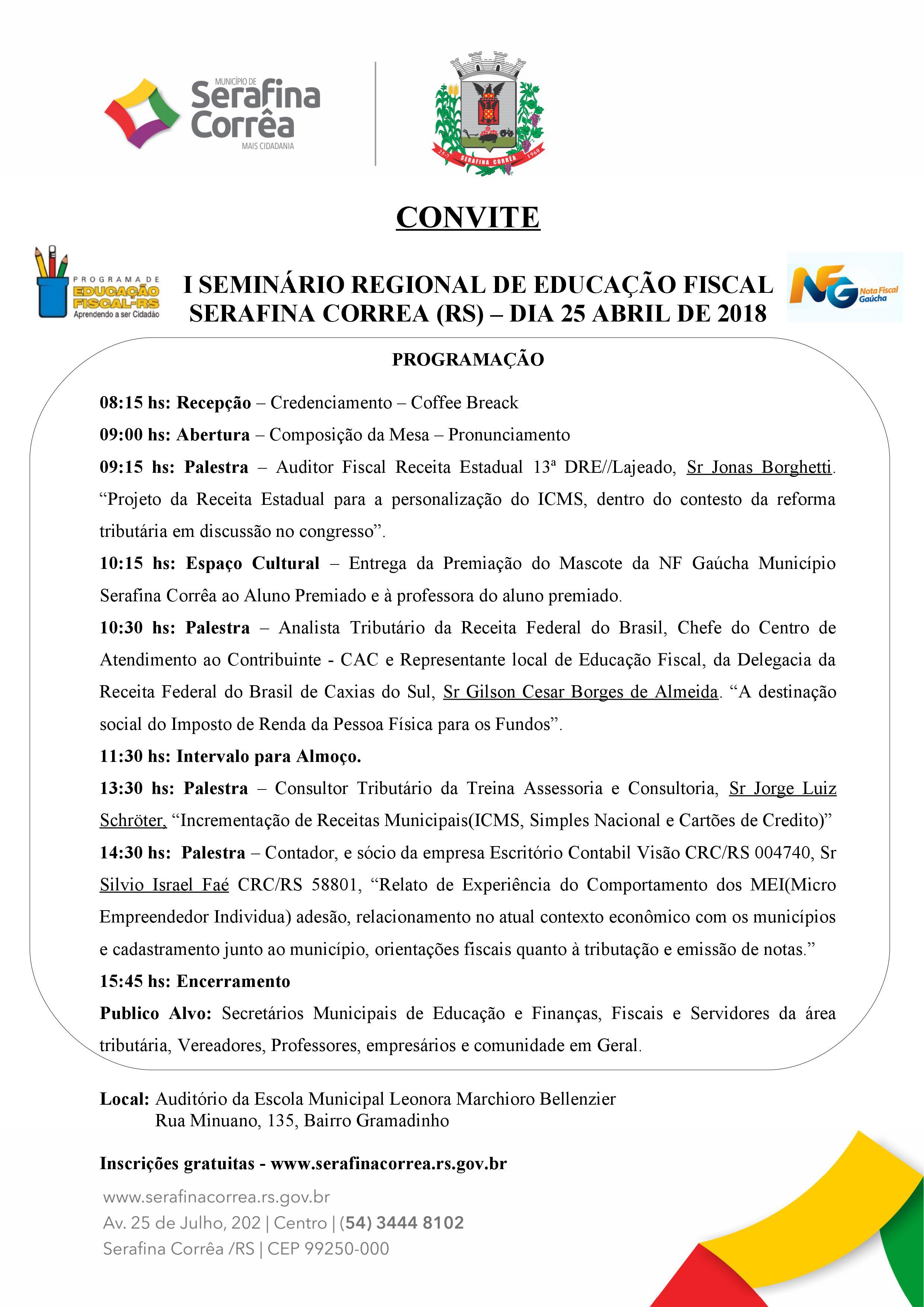 I Seminário Regional Em Serafina Corrêa